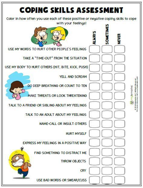 This is a picture of Free Printable Coping Skills Worksheets throughout word search
