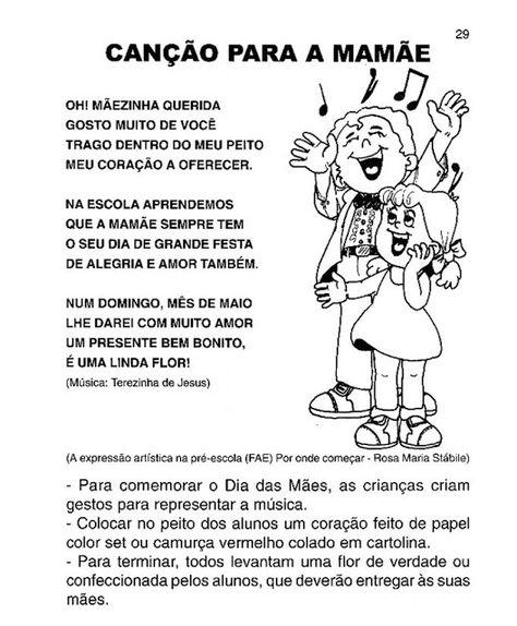 Musicas Para O Dia Das Maes Com Imagens Educacao Infantil