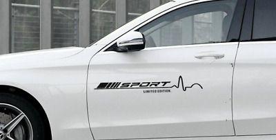1 Pair Black Turbo AMG Car Sticker Emblem Logo Decoration Fit for Mercedes Benz