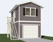 Two-Story One-Car Garage Apartment | Historic Shed | Tiny ...