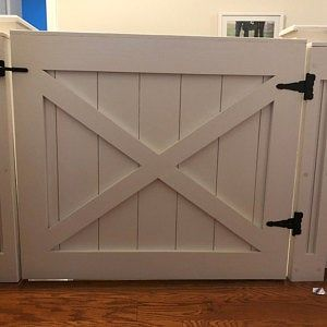 Rustic Dog Baby Gate Barn Door Style W Side Panels Baby Gates