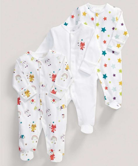 144a469e7daee Unisex Essentials Three Pack of Timbuktales All-in-Ones - All Unisex -  Mamas & Papas