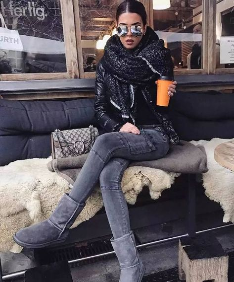 Your Shoes Secretly Say About You Winter chic outfit with cozy winter scarf and Gucci bag.Winter chic outfit with cozy winter scarf and Gucci bag.