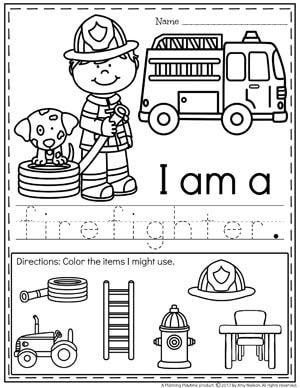 Community Helpers Preschool Theme   Letters A B C   Community ...