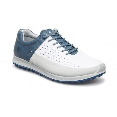 Ecco Mens Biom Hybrid 2 White Blue Golf Shoes Golf Shoes Shoes Mens Shoes