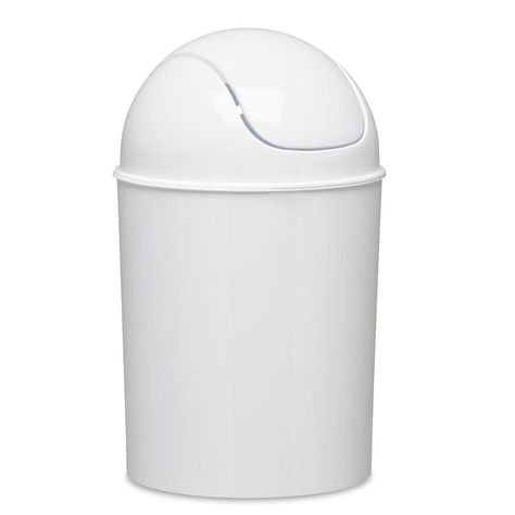 Umbra Mini Vintage Can Office 5l 1 5 Gallon Waste Basket Trash Kitchen White New Umbra With Images Bathroom Trash Can Trash Can Trash