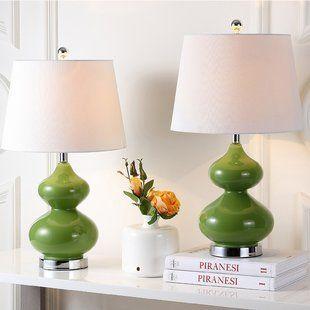Table Lamps You Ll Love Wayfair Table Lamp Sets Lamp Green Table Lamp