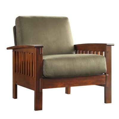 Mission Microfiber Chair Olive Inspire Q Furniture Armchairs Living Room Modern Eames Rocking Chair