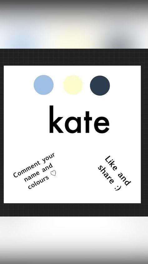 Marble names: Kate