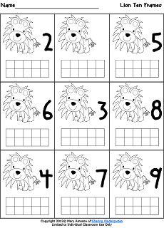 Letter Ll Ten Frame Fun! (Freebielicious)   Ten frames, Math and ...