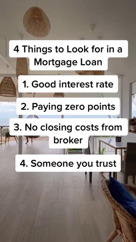 4 Ideal Things to Look for in a Mortgage