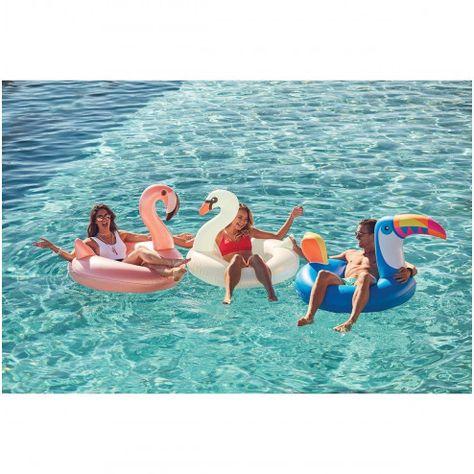 Flamingo Kinder Schwimmreif 70 x 44cm | Schwimmbad spielzeug
