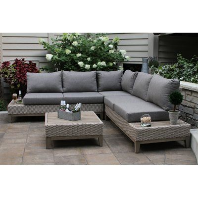 Rex 4 Piece Sectional Seating Group With Cushions In 2020
