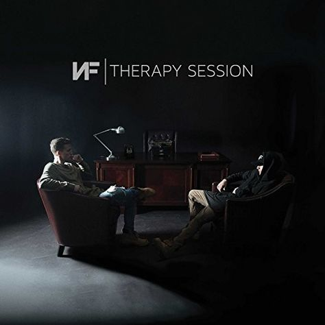 """Therapy Session"" is the second No. 1 on the chart for NF (aka, Nate Feuerstein). Cool Album Covers, Music Album Covers, Music Albums, Nf Therapy Session Album, Mainstream Music, Nf Real Music, Stranger Things Funny, Inspirational Videos, Christian Music"