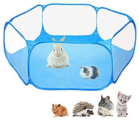 Amazon Com Amakunft Small Animals C C Cage Tent Breathable Transparent Pet Playpen Pop Open Outdoor Indoor Exerc Small Pets Cool Hamster Cages Pet Playpens