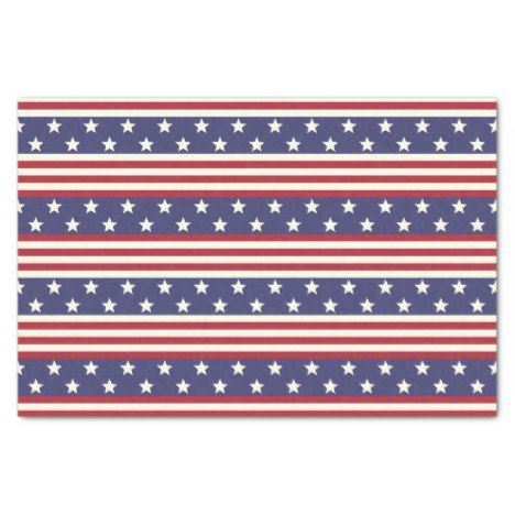 Stars And Stripes Patriotic American Flag Usa Tissue Paper Zazzle Com American Flag Art Custom Tissue Paper Fourth Of July Crafts For Kids