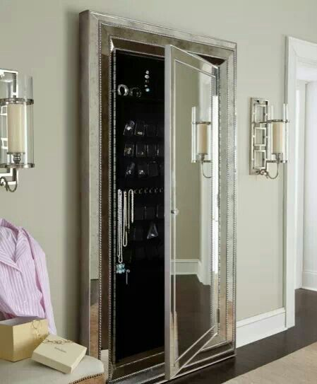 Exceptional Expand Your Space (Visually) With Stylish Mirrors | Hidden Jewelry Storage,  Jewelry Storage And Storage