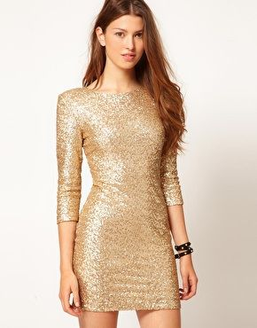 Vestidos Para Estas Navidades Vestidos Dorados Cortos