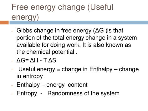 concept of free energy in biochemistry