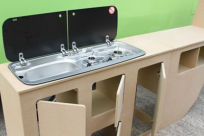 1a8987d352 Volkswagen T2 Interior cupboards Bay window furniture. VW Units Cabinets