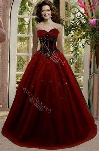 Cool Black And Red Wedding Gowns 2018 Red Wedding Gowns Black Wedding Dresses Gothic Wedding Dress