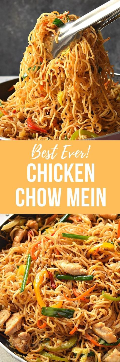 better than takeout try this restaurant style Chicken Chow Mein! So delicious and so good!  #savorybitesrecipes #chickenchowmein #chowmeinrecipe #easyrecipe #chinesefood #delicious #chowmein