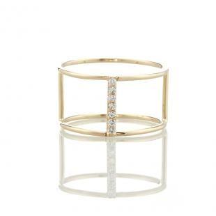 14K Corset Ring with Diamonds, $595.00