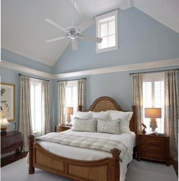 Master Bedroom With Vaulted Ceiling Design Ideas, Pictures, Remodel and  Decor | Tall Ceilings - Crown Molding, Uplights | Pinterest | Master bedroom,  ...