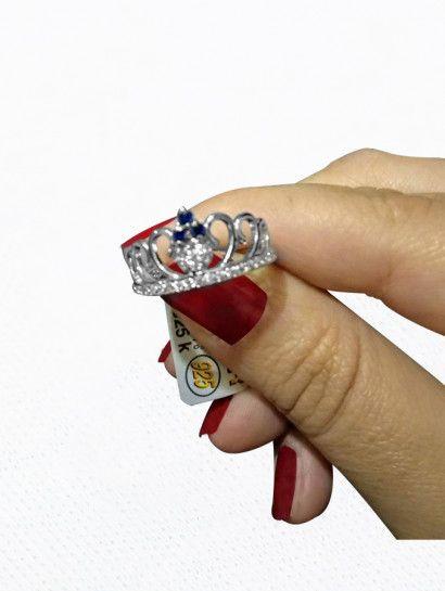 خاتم فضة عيار 925 خاتم فضة ايطالى تاج Heart Ring Class Ring Rings