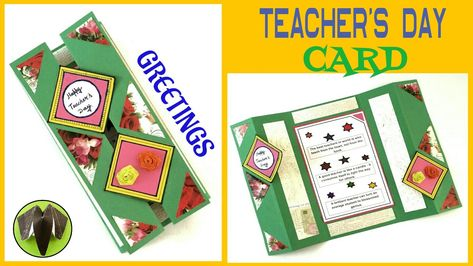 Tutorial To Make Teacher S Day Card Greeting Card Easy Simple Teachers Day Card Teacher Cards Teachers Day Greetings
