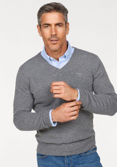 V-Ausschnitt-Pullover Class International Herrenmode Regular-fit// normale Form