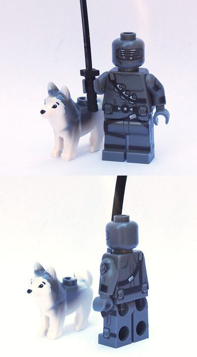 Cartoon Snake Eyes Custom Gi Joe Cobra minifigures lego bricks gijoe g i joe