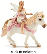 Schleich - Lily Elf on Pony - click to enlarge