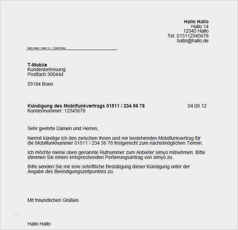 49 Hubsch T Mobile Vertrag Kundigen Vorlage Abbildung In 2020 Vertrag Kundigen Vorlagen Vorlagen Word