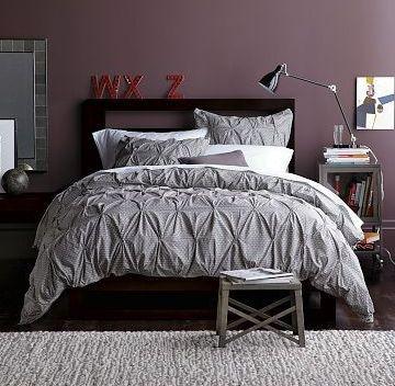 Purple Walls With Gray Comforter