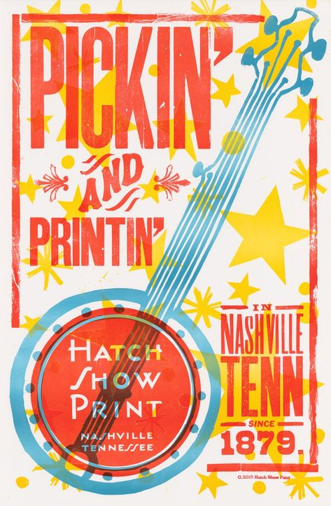 Pickin' and Printin' Poster