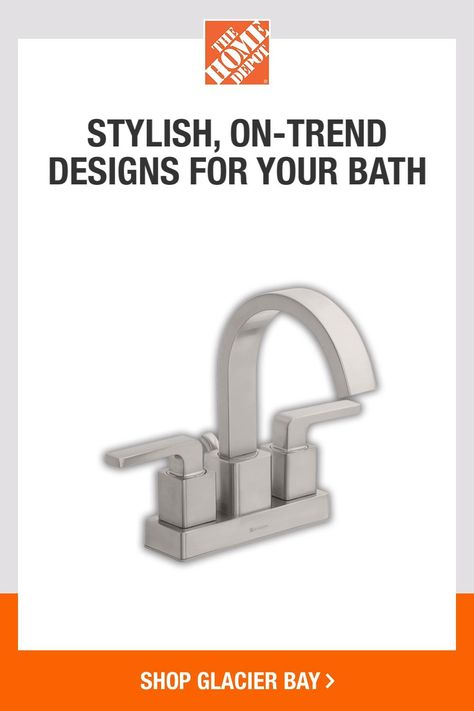Complete your bath project from start to finish with everything you need from Glacier Bay. Shop quality faucets, showerheads, towel rings and much more. Tap to shop now at The Home Depot.