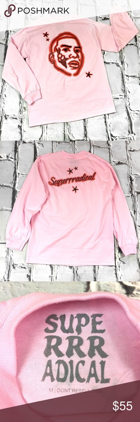 6bd48a93388 Superradical Gucci Mane Airbrush LS Shirt SZ MED Long sleeve T shirt from  the latest Superradical drop. This is the only one we have for sale.