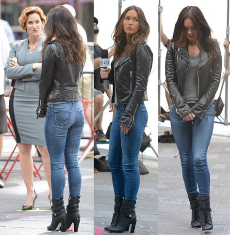 Hoag and Megan Fox on the set of 'Teenage Mutant Ninja Turtles' Featuring: Judith Hoag, Megan Fox Where: Manhattan, New York, United States When: 11 May 2015 Credit: TNYF/