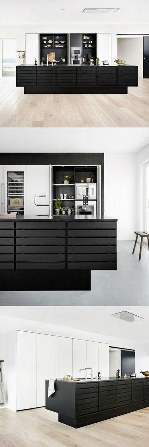 Schwarz und matt Die schönsten Küchen-Ideen und Bilder - moderne einbaukuechen kochinsel
