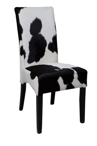Black And White Kensington Dining Chair Dining Chairs Chair Cowhide Furniture