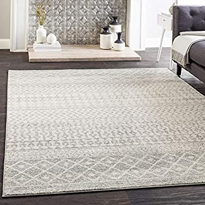 Amazon Com Artistic Weavers Chester Grey Area Rug 7 10 X 10 3 Kitchen Dining In 2020 Bohemian Area Rugs Cool Rugs Area Rugs