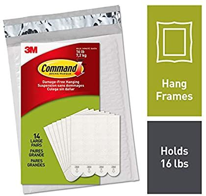 Command Ph206 14na Heavy Duty Holds 16 Lbs Picture Hanging Strips 14 Pairs White 14 Pack A In 2020 Picture Hanging Damage Free Decorating Picture Frame Hangers