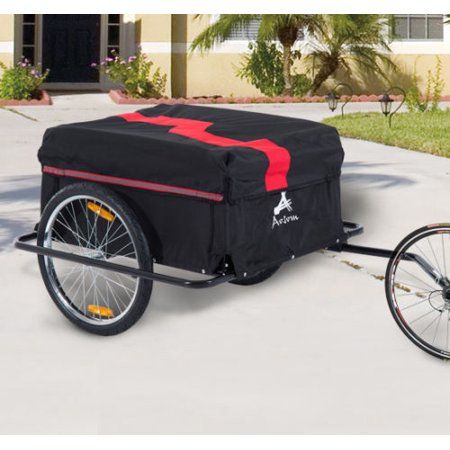 Aosom Elite II Bike Cargo//Luggage Trailer Red//Black