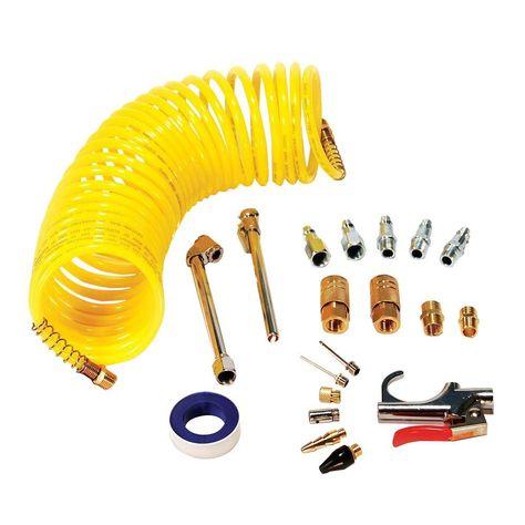 Primefit Air Accessory Kit With 25 Ft Recoil Air Hose 20 Piece Air Tools Air Compressor Compressor Hose