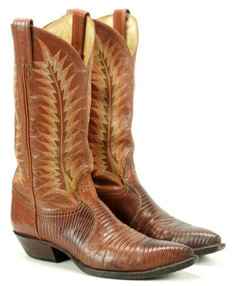 0279ae1ef7f eBay Sponsored) Tony Lama Lizard Men's Pointy Toe Cowboy Boots ...