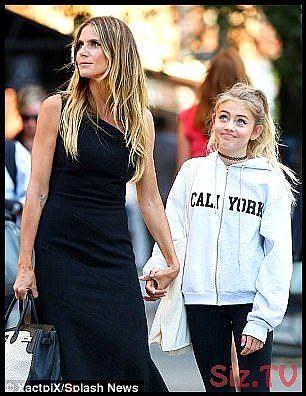 Heidi Klum Runs Errands With Mini Me Daughter Leni In Nyc Heidi Klum Runs Errands With Mini Me Daughter Leni In Nyc Aygul R Heidi Klum White Sweatshirt Fashion