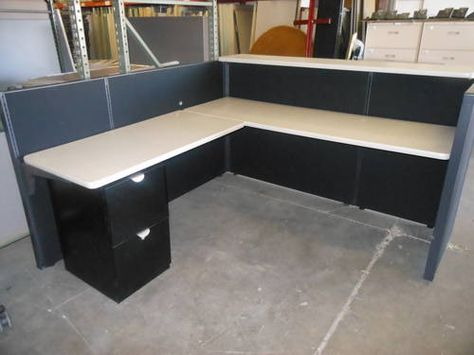 6x6 herman miller refurbished reception desk with one set of drawers rh pinterest com  used office furniture scottsdale arizona
