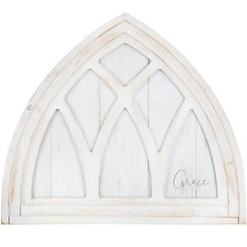 Grace Arched Window Pane Wood Wall Decor Wood Wall Decor Arched