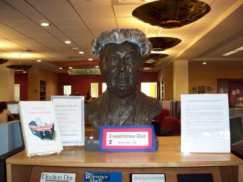 Bust of Fr. Bartley MacPhaidin...celebrating September 17, Constitution Day!
